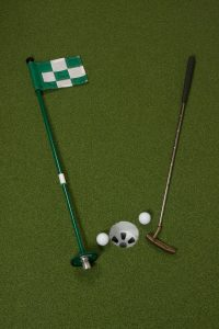 golf course flag sticks